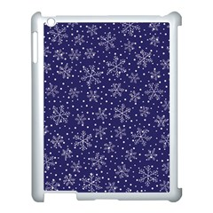 Snowflakes Pattern Apple Ipad 3/4 Case (white) by Onesevenart