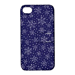 Snowflakes Pattern Apple Iphone 4/4s Hardshell Case With Stand by Onesevenart