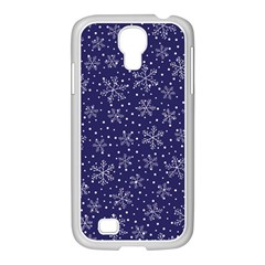 Snowflakes Pattern Samsung Galaxy S4 I9500/ I9505 Case (white) by Onesevenart