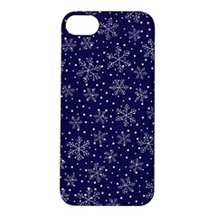 Snowflakes Pattern Apple Iphone 5s/ Se Hardshell Case by Onesevenart