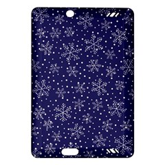 Snowflakes Pattern Amazon Kindle Fire Hd (2013) Hardshell Case by Onesevenart