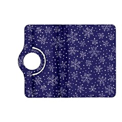 Snowflakes Pattern Kindle Fire Hd (2013) Flip 360 Case by Onesevenart