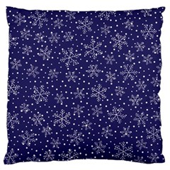 Snowflakes Pattern Large Flano Cushion Case (one Side) by Onesevenart
