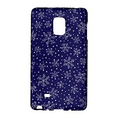 Snowflakes Pattern Galaxy Note Edge by Onesevenart