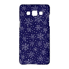 Snowflakes Pattern Samsung Galaxy A5 Hardshell Case  by Onesevenart