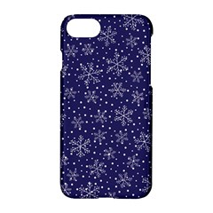 Snowflakes Pattern Apple Iphone 7 Hardshell Case by Onesevenart