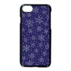Snowflakes Pattern Apple Iphone 7 Seamless Case (black) by Onesevenart