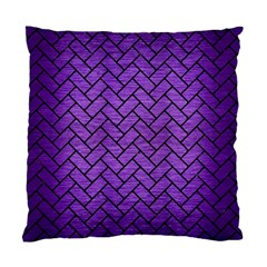 Brick2 Black Marble & Purple Brushed Metal Standard Cushion Case (two Sides) by trendistuff