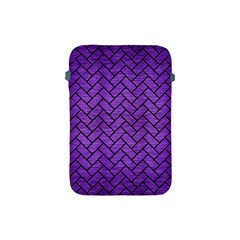 Brick2 Black Marble & Purple Brushed Metal Apple Ipad Mini Protective Soft Cases by trendistuff