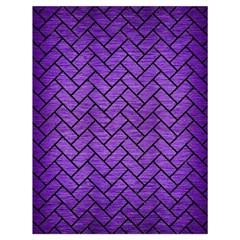 Brick2 Black Marble & Purple Brushed Metal Drawstring Bag (large) by trendistuff