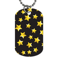 Yellow Stars Pattern Dog Tag (two Sides) by Onesevenart