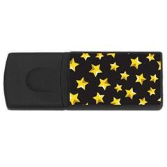 Yellow Stars Pattern Rectangular Usb Flash Drive by Onesevenart