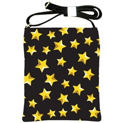 Yellow Stars Pattern Shoulder Sling Bags by Onesevenart