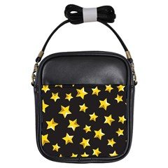 Yellow Stars Pattern Girls Sling Bags by Onesevenart