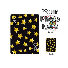 Yellow Stars Pattern Playing Cards 54 (mini)  by Onesevenart