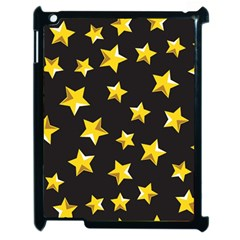 Yellow Stars Pattern Apple Ipad 2 Case (black) by Onesevenart