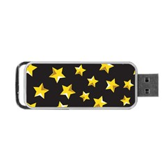 Yellow Stars Pattern Portable Usb Flash (two Sides) by Onesevenart