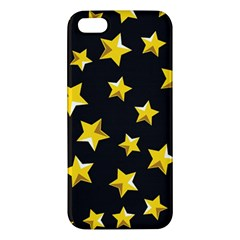 Yellow Stars Pattern Iphone 5s/ Se Premium Hardshell Case by Onesevenart