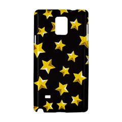 Yellow Stars Pattern Samsung Galaxy Note 4 Hardshell Case by Onesevenart