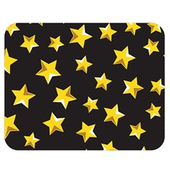 Yellow Stars Pattern Double Sided Flano Blanket (medium)  by Onesevenart