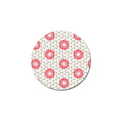 Stamping Pattern Fashion Background Golf Ball Marker by Onesevenart