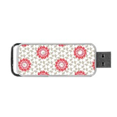 Stamping Pattern Fashion Background Portable Usb Flash (two Sides) by Onesevenart