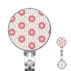 Stamping Pattern Fashion Background Stainless Steel Nurses Watch by Onesevenart