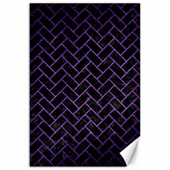 Brick2 Black Marble & Purple Brushed Metal (r) Canvas 20  X 30   by trendistuff