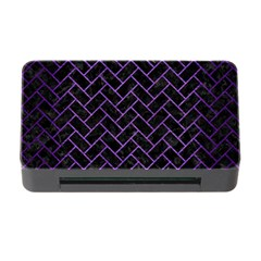 Brick2 Black Marble & Purple Brushed Metal (r) Memory Card Reader With Cf by trendistuff
