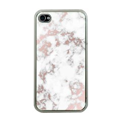 Pure And Beautiful White Marple And Rose Gold, Beautiful ,white Marple, Rose Gold,elegnat,chic,modern,decorative, Apple Iphone 4 Case (clear) by 8fugoso
