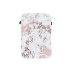 Pure And Beautiful White Marple And Rose Gold, Beautiful ,white Marple, Rose Gold,elegnat,chic,modern,decorative, Apple Ipad Mini Protective Soft Cases by 8fugoso
