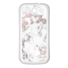 Pure And Beautiful White Marple And Rose Gold, Beautiful ,white Marple, Rose Gold,elegnat,chic,modern,decorative, Samsung Galaxy S3 Back Case (white) by 8fugoso