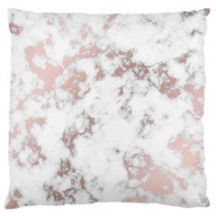 Pure And Beautiful White Marple And Rose Gold, Beautiful ,white Marple, Rose Gold,elegnat,chic,modern,decorative, Standard Flano Cushion Case (two Sides) by 8fugoso