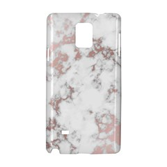 Pure And Beautiful White Marple And Rose Gold, Beautiful ,white Marple, Rose Gold,elegnat,chic,modern,decorative, Samsung Galaxy Note 4 Hardshell Case by 8fugoso