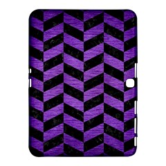 Chevron1 Black Marble & Purple Brushed Metal Samsung Galaxy Tab 4 (10 1 ) Hardshell Case  by trendistuff