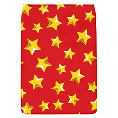 Yellow Stars Red Background Pattern Flap Covers (s)  by Onesevenart