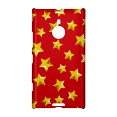 Yellow Stars Red Background Pattern Nokia Lumia 1520 by Onesevenart