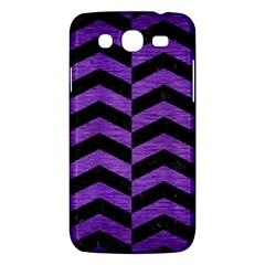 Chevron2 Black Marble & Purple Brushed Metal Samsung Galaxy Mega 5 8 I9152 Hardshell Case  by trendistuff