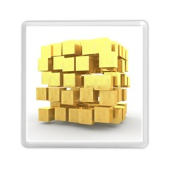 Gold Bars Feingold Bank Memory Card Reader (square)  by Onesevenart