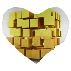 Gold Bars Feingold Bank Large 19  Premium Heart Shape Cushions by Onesevenart