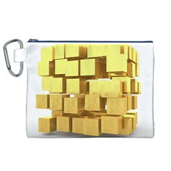 Gold Bars Feingold Bank Canvas Cosmetic Bag (xl) by Onesevenart