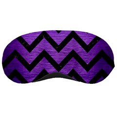Chevron9 Black Marble & Purple Brushed Metal Sleeping Masks by trendistuff
