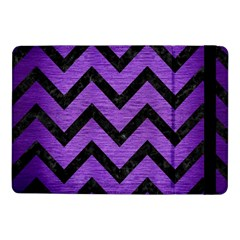 Chevron9 Black Marble & Purple Brushed Metal Samsung Galaxy Tab Pro 10 1  Flip Case by trendistuff