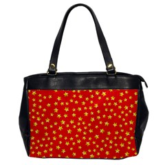 Yellow Stars Red Background Office Handbags by Onesevenart