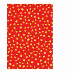 Yellow Stars Red Background Small Garden Flag (two Sides) by Onesevenart