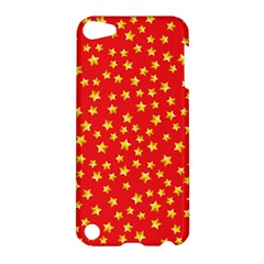 Yellow Stars Red Background Apple Ipod Touch 5 Hardshell Case by Onesevenart