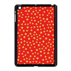 Yellow Stars Red Background Apple Ipad Mini Case (black) by Onesevenart