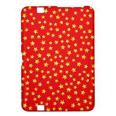 Yellow Stars Red Background Kindle Fire Hd 8 9  by Onesevenart