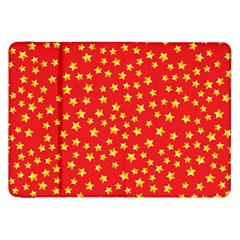 Yellow Stars Red Background Samsung Galaxy Tab 8 9  P7300 Flip Case by Onesevenart