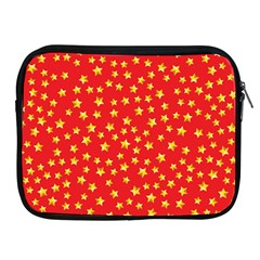 Yellow Stars Red Background Apple Ipad 2/3/4 Zipper Cases by Onesevenart